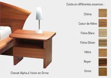 meubles lits et chevets en bois massif taglan cr ation. Black Bedroom Furniture Sets. Home Design Ideas